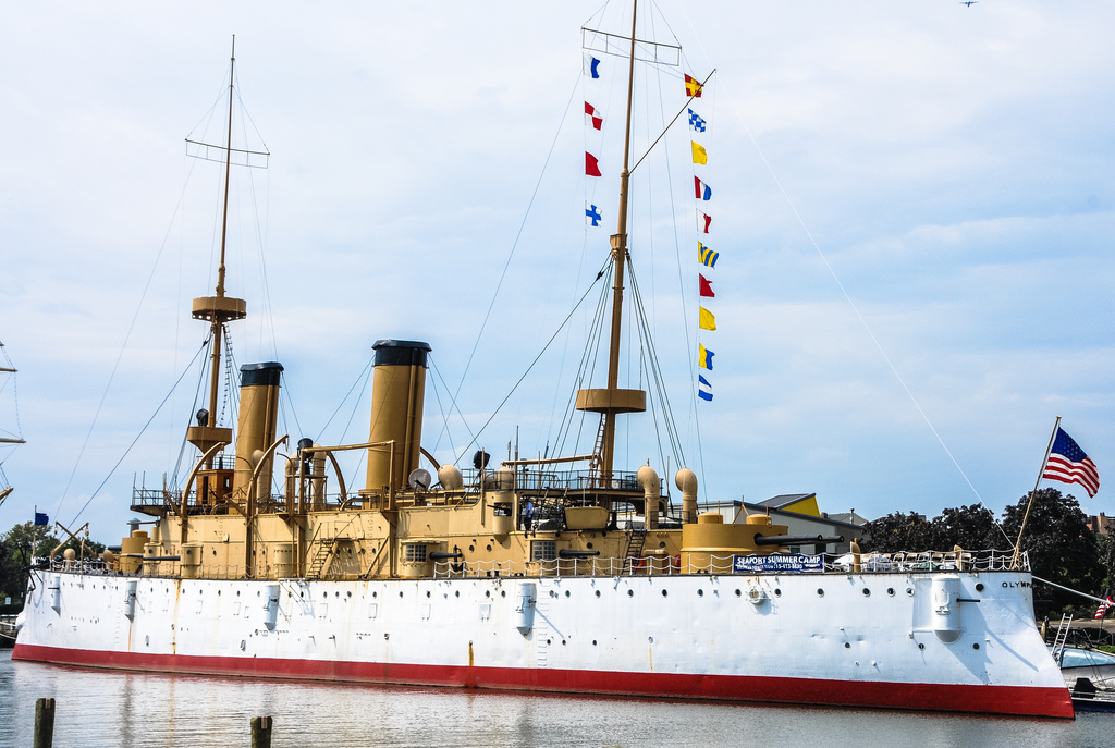 Bryn Mawr College Philadelphia, USS Olympia (C-6) US Navy Cruiser at the Independence Seap… | Flickr