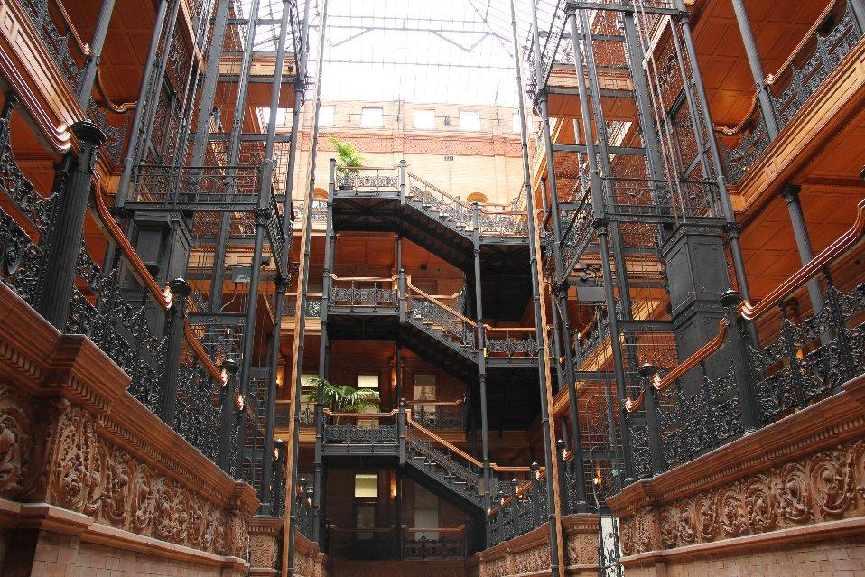 Bullocks Wilshire Los Angeles, The Bradbury Building in downtown Los Angeles is familiar to most ...