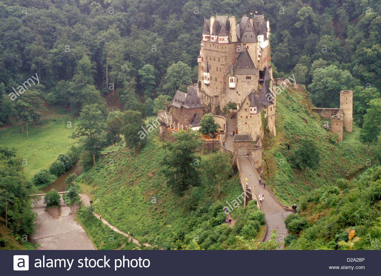 Burg Eltz The Moselle Valley, Germany. Mosel Valley. Burg Eltz. Castle Stock Photo, Royalty Free ...