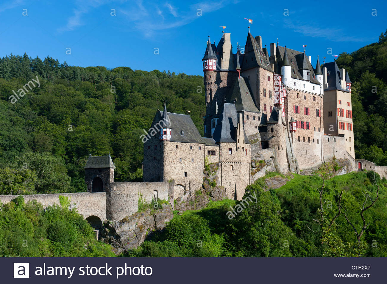 Burg Eltz The Moselle Valley, Burg Eltz castle near Mosel Valley in Germany Stock Photo, Royalty ...