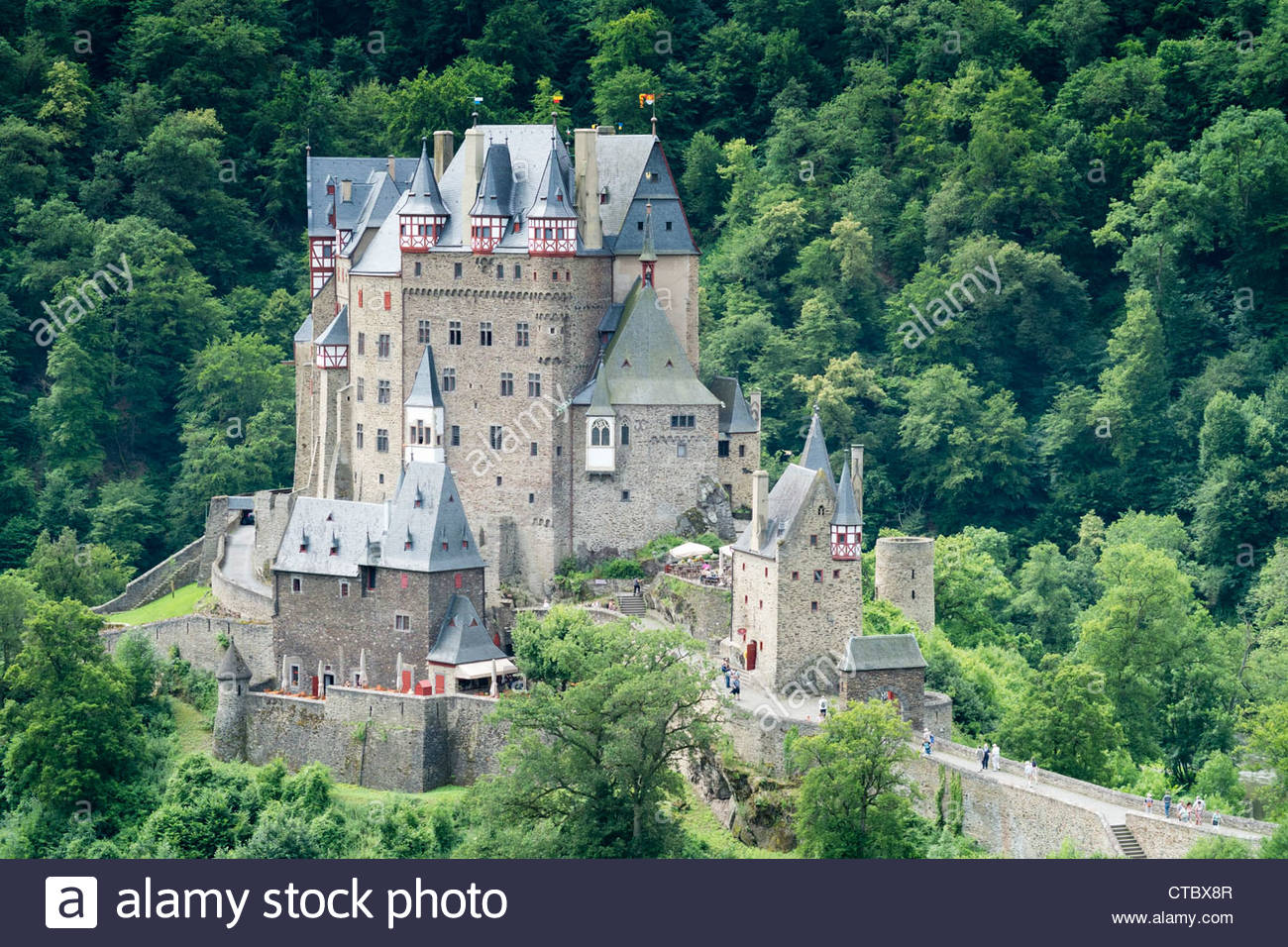 Burg Eltz The Moselle Valley, Burg Eltz castle near Mosel River valley in in Rhineland ...