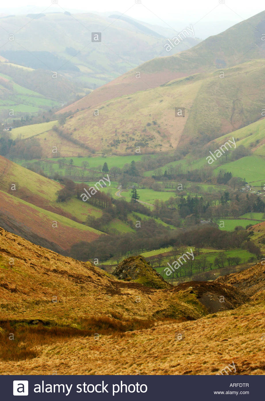 Bwlch y Groes North Wales, Europe Wales view from Bwlch Y Groes Pass Stock Photo, Royalty ...