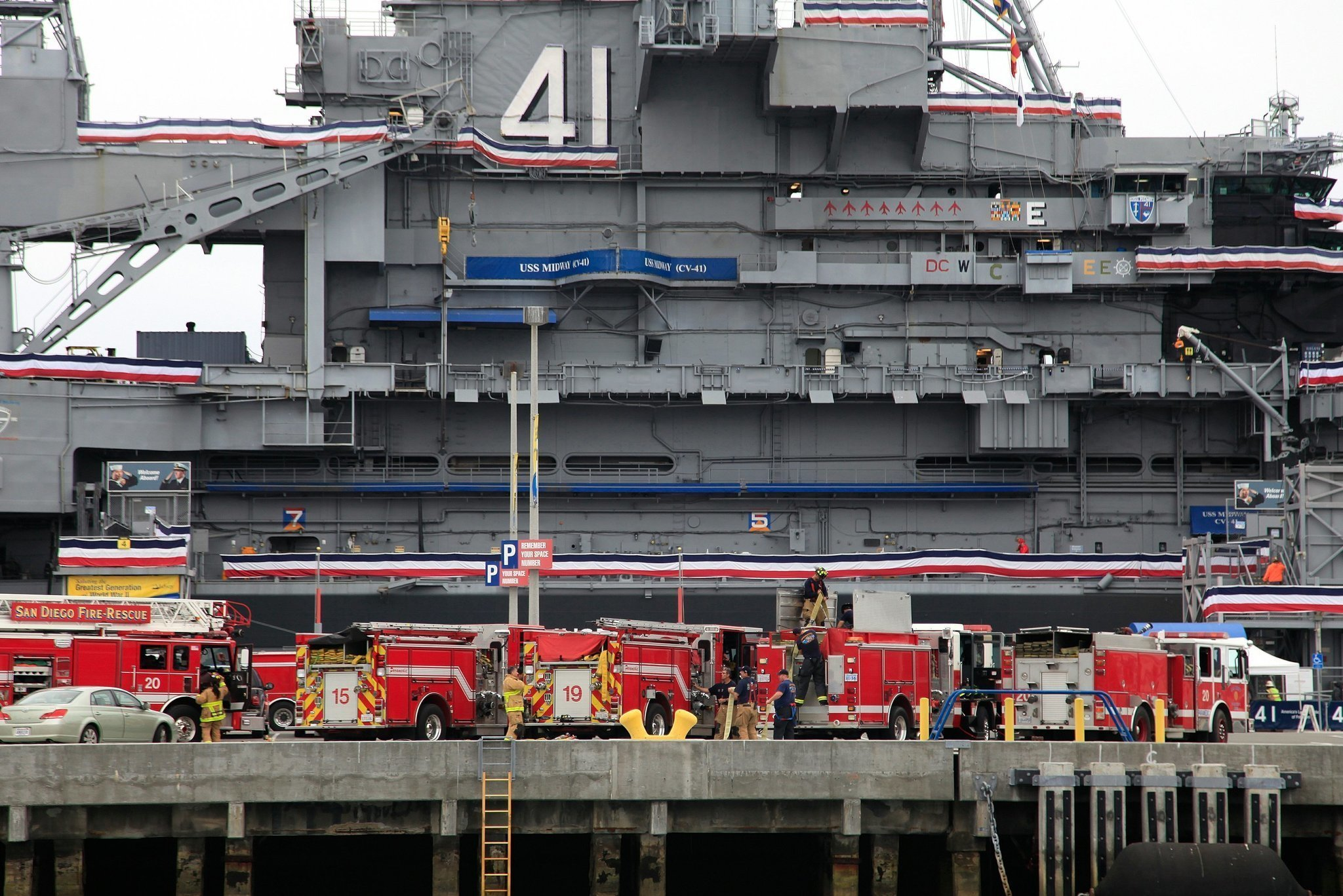 Cabrillo National Monument San Diego, USS Midway Museum catches fire - The San Diego Union-Tribune