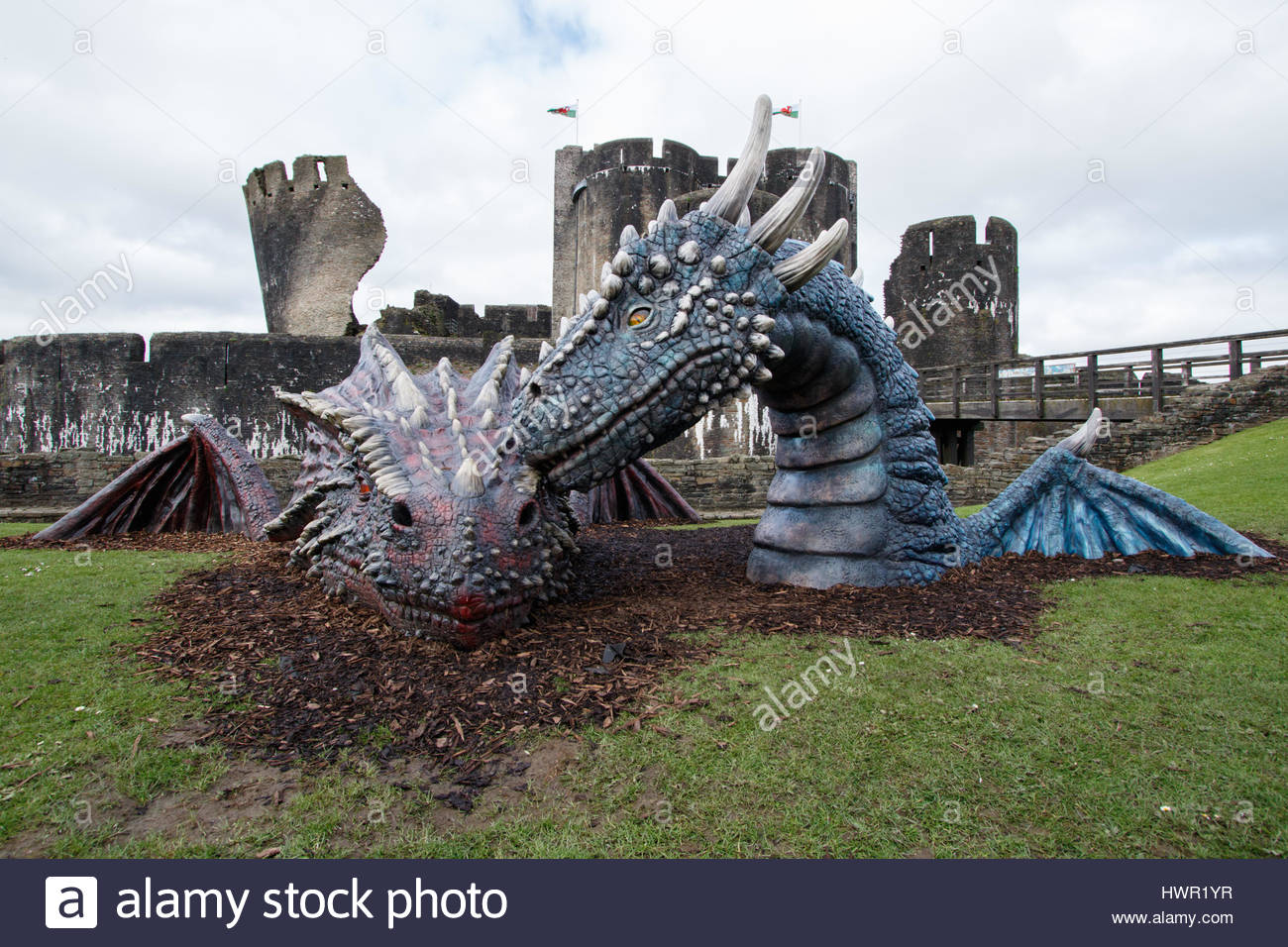 Caerphilly Castle South Wales, Caerphilly Castle, South Wales, UK. 4th Apr, 2017. The Welsh ...