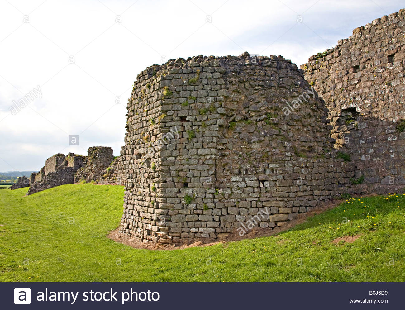 Caerwent Roman Town South Wales, Tower in south wall of Roman town wall Caerwent Wales UK Stock ...