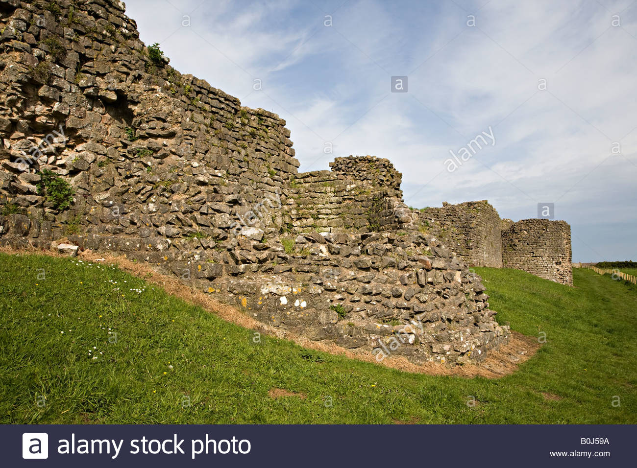 Caerwent Roman Town South Wales, Ruined tower in south wall of Roman town wall Caerwent Wales UK ...