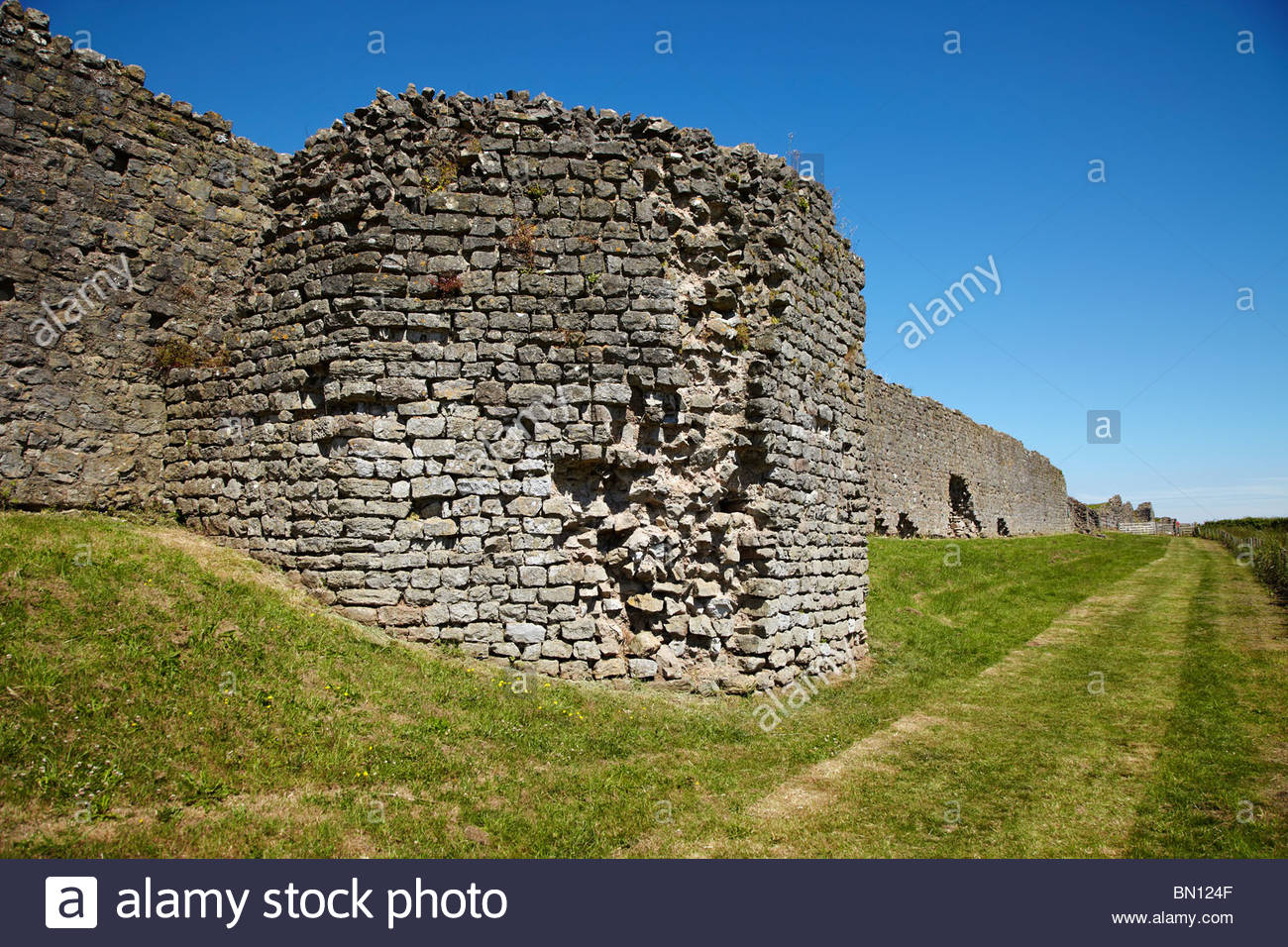Caerwent Roman Town South Wales, Roman Remains of the South Wall in the Roman town of Venta Silurum ...