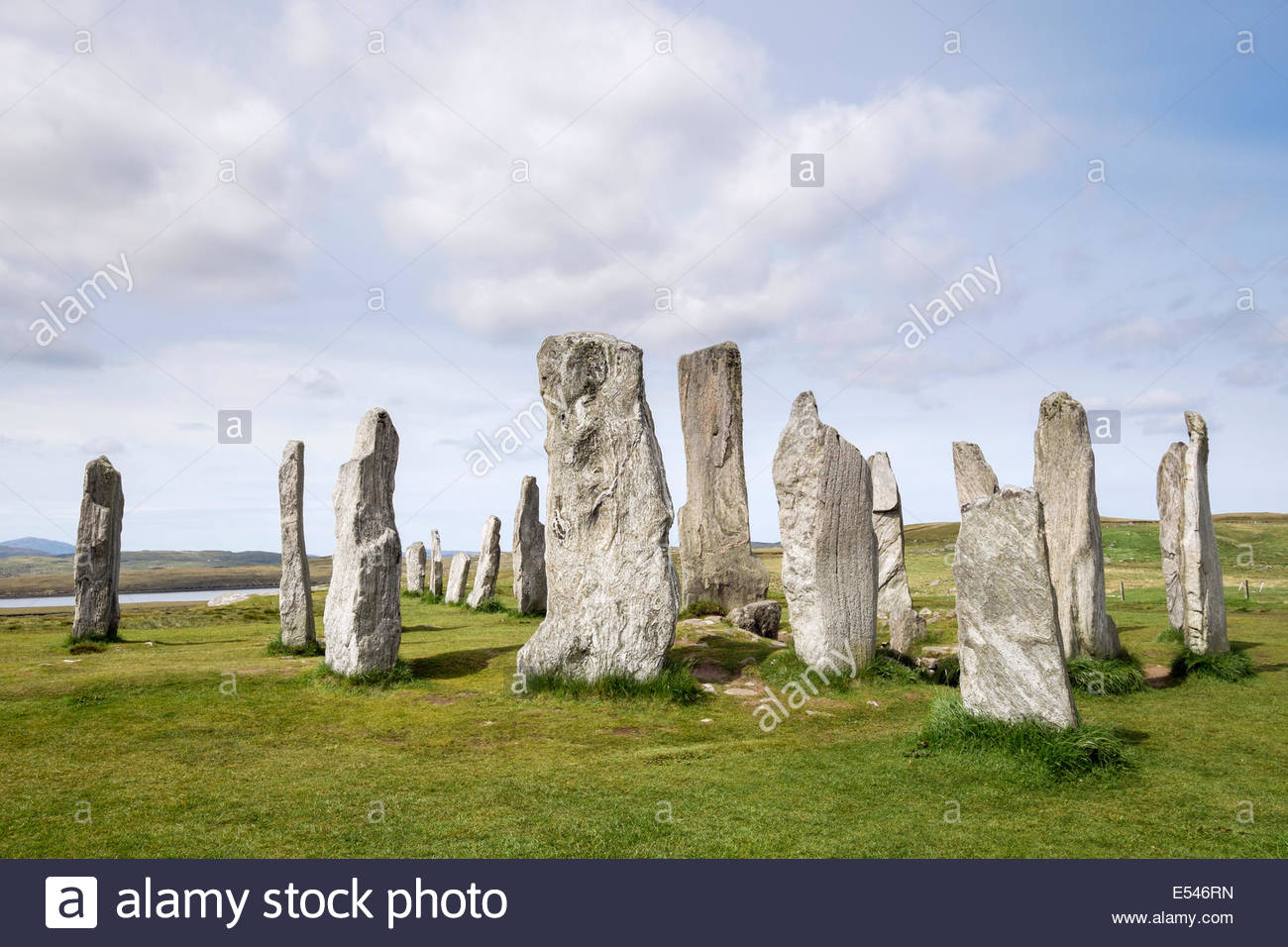 Calanais Standing Stones The Northern Highlands and the Western Isles, Standing Stone Scotland Stock Photos & Standing Stone Scotland ...