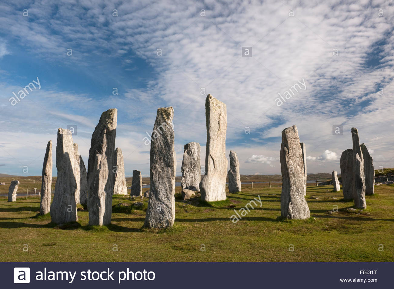Callanish Standing Stones Callanish (Calanais), Looking SE at Callanish (Calanais) Standing Stones, Isle of Lewis ...