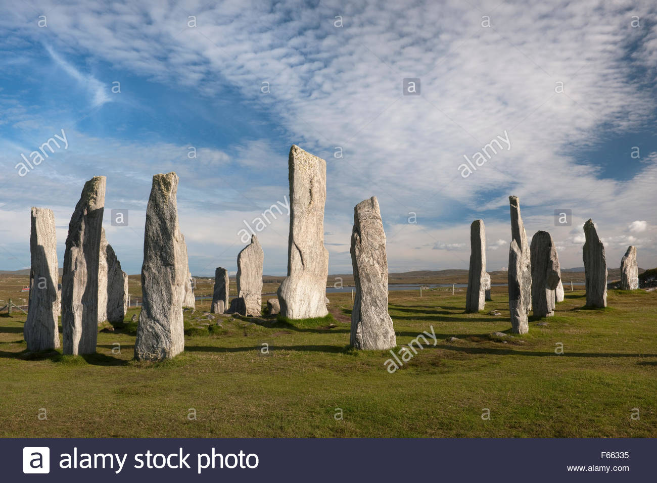 Callanish Standing Stones Callanish (Calanais), Looking ESE at Callanish (Calanais) Standing Stones, Isle of Lewis ...