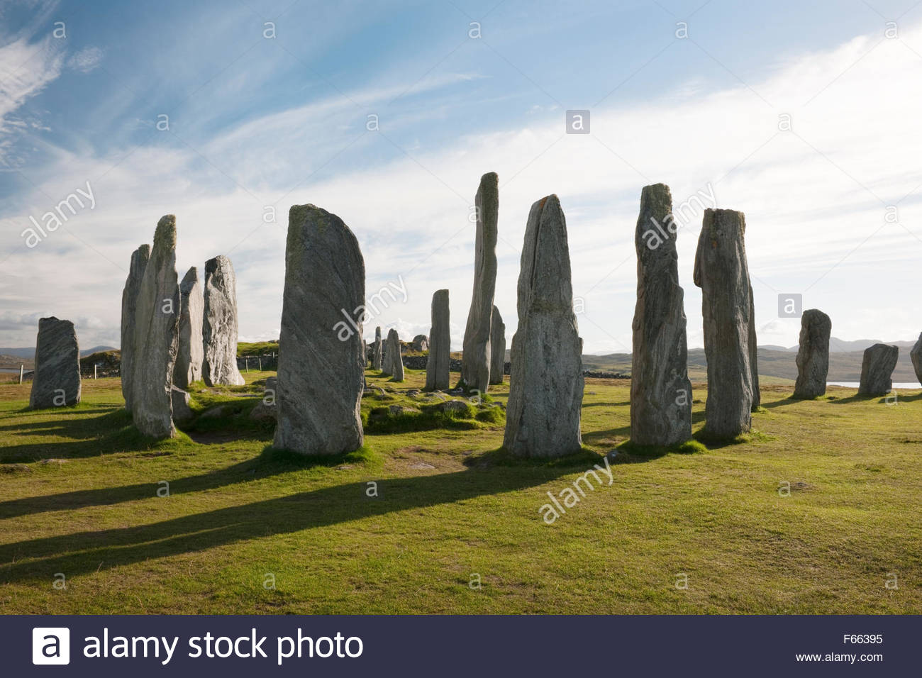 Callanish Standing Stones Callanish (Calanais), Looking SSW at Callanish (Calanais) Standing Stones, Isle of Lewis ...