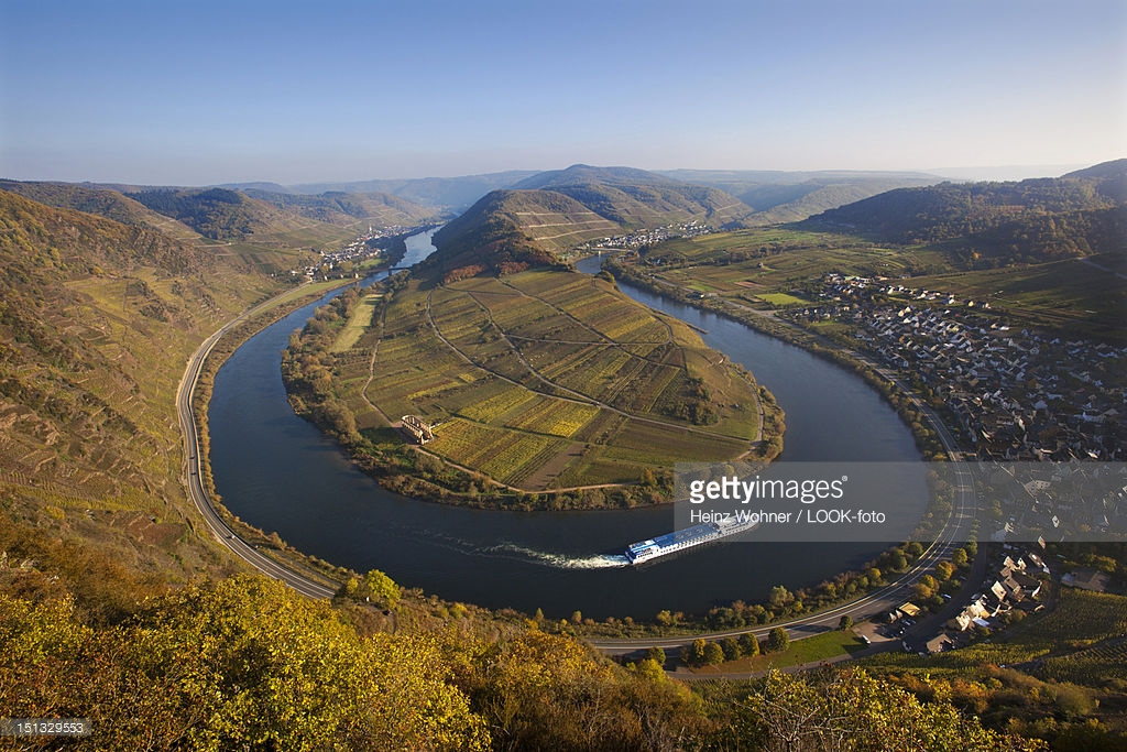 Calmont The Rhineland, View From Bremmer Calmont Vineyard Onto The Moselle Sinuosity ...