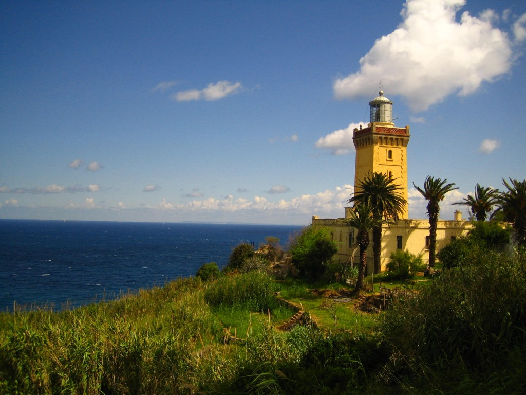 Cap Spartel Lighthouse Tangier and the Mediterranean, Cap Spartel Light (Strait of Gibraltar), Tangier, Morocco ...