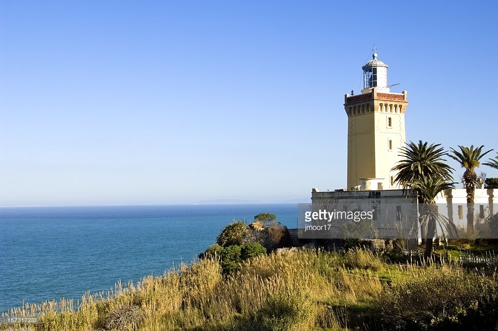 Cap Spartel Lighthouse Tangier and the Mediterranean, Cap Spartel Tangiers Stock Photo | Getty Images