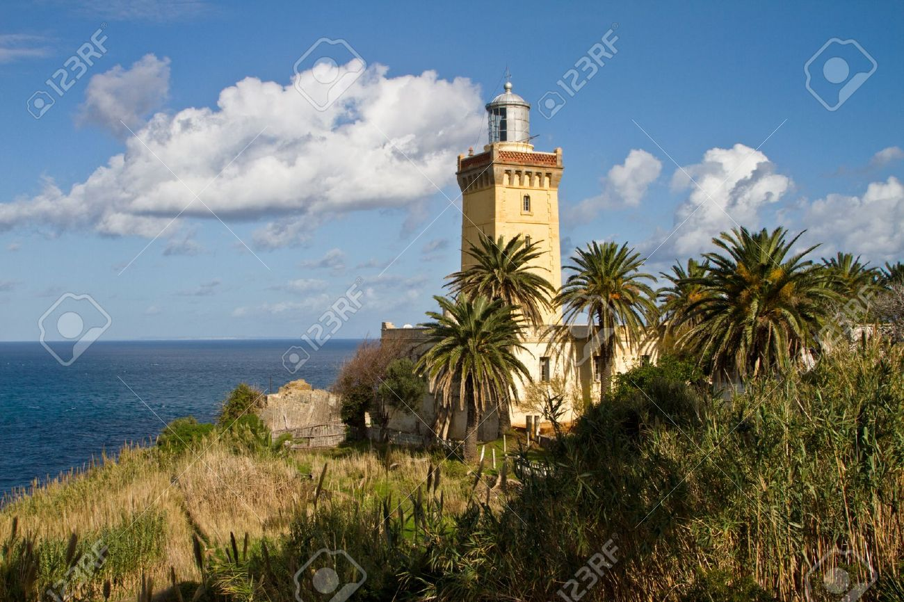 Cap Spartel Lighthouse Tangier and the Mediterranean, Lighthouse Of Cap Spartel, Tanger Morocco Stock Photo, Picture And ...