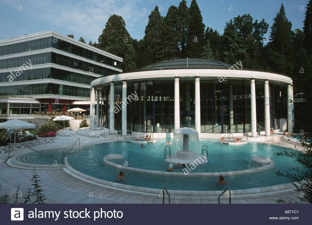 Caracalla Therme The Black Forest, Schwarzwald Black Forest Baden Baden Caracalla Thermal Baths Stock ...