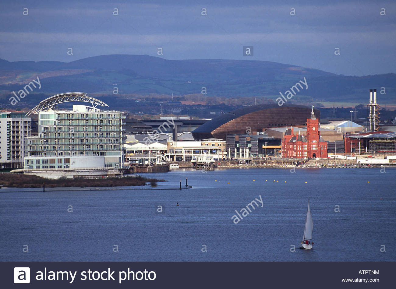 Cardiff Bay South Wales, cardiff bay from penarth waterfront tiger bay man made harbour ...