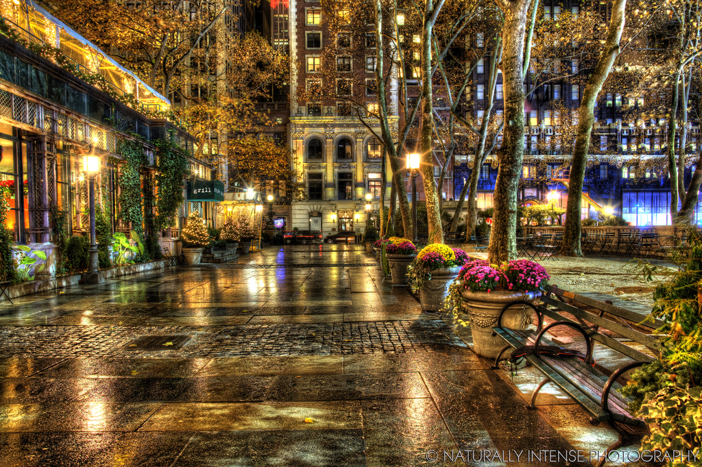 Carl Schurz Park New York City, Bryant Park New York City | The shops open along Bryant Park… | Flickr