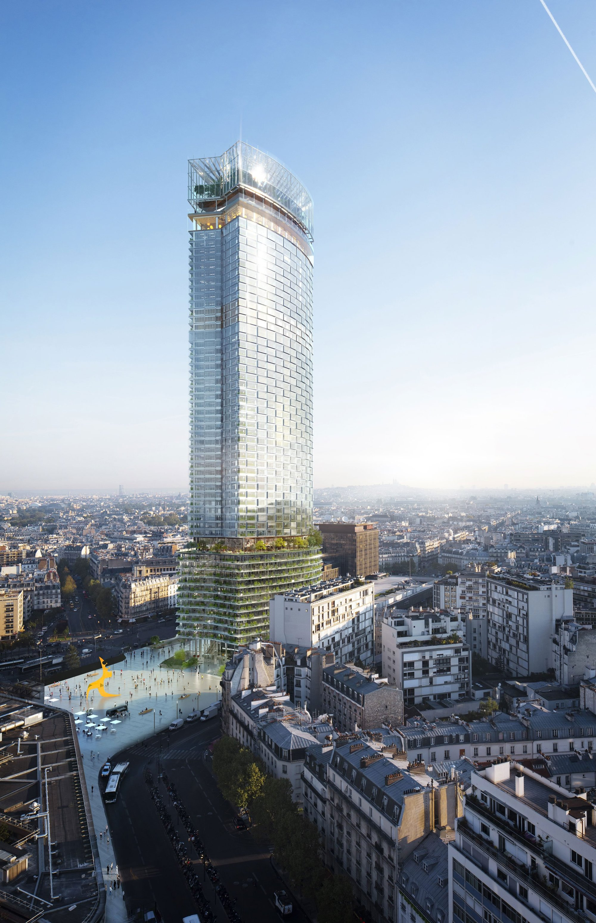 Carrefour de Buci Paris, Nouvelle AOM Wins Competition to Redesign Paris' Tour Montparnasse ...