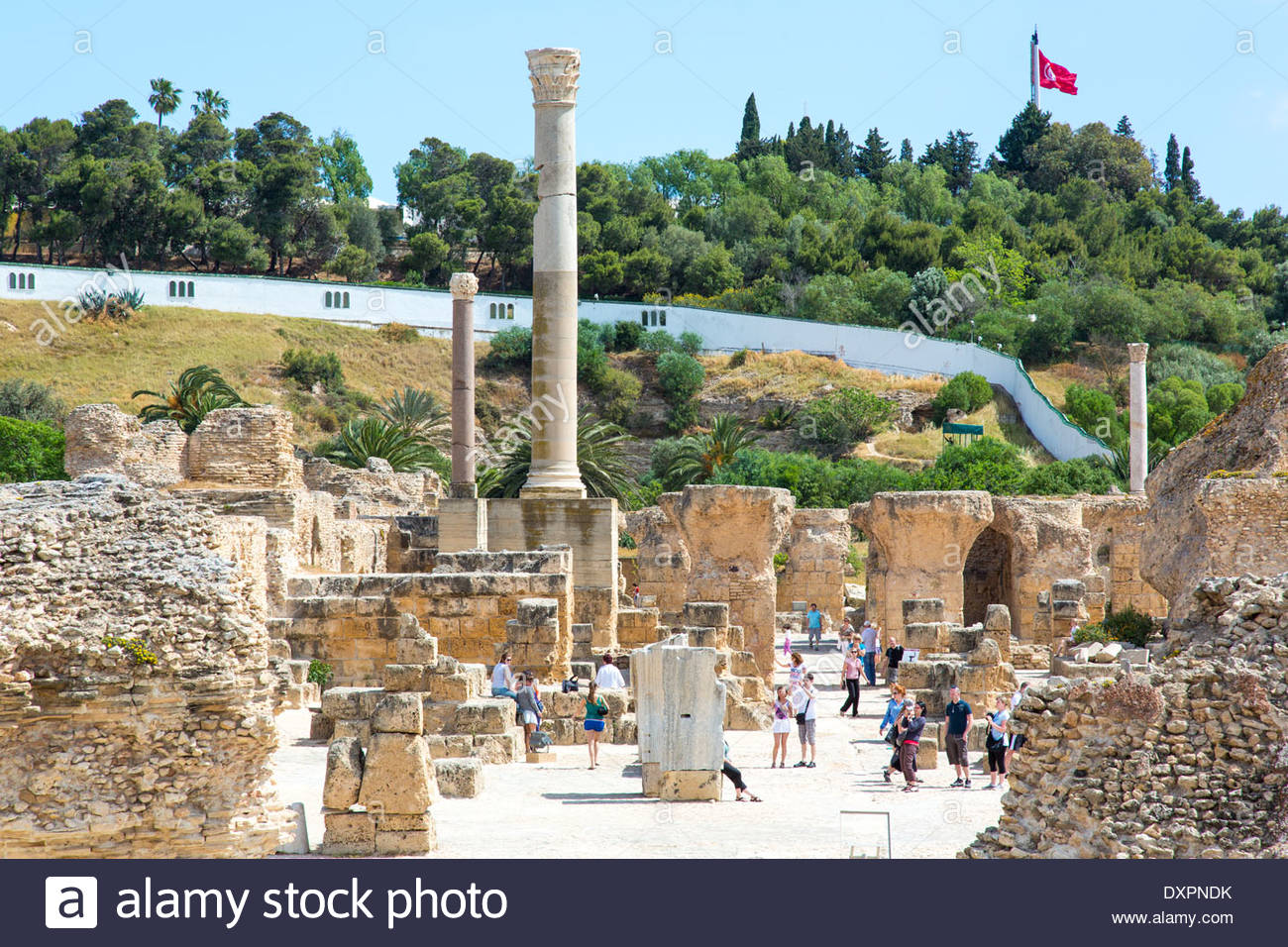 Carthage Tunis, Ruins of Carthage, Tunis, Tunisia Stock Photo, Royalty Free Image ...