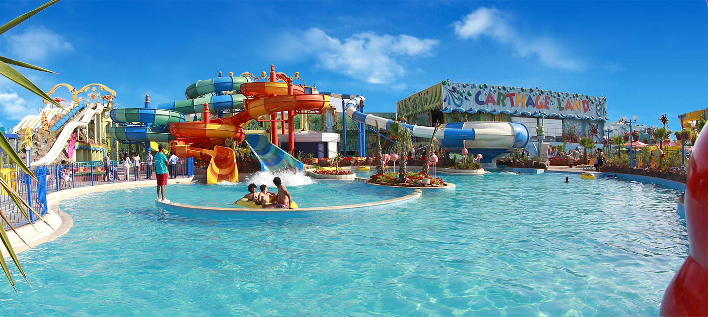 Carthageland Hammamet, Parc Aqualand Tunis: Attractions aquatique-Carthage Land Lac
