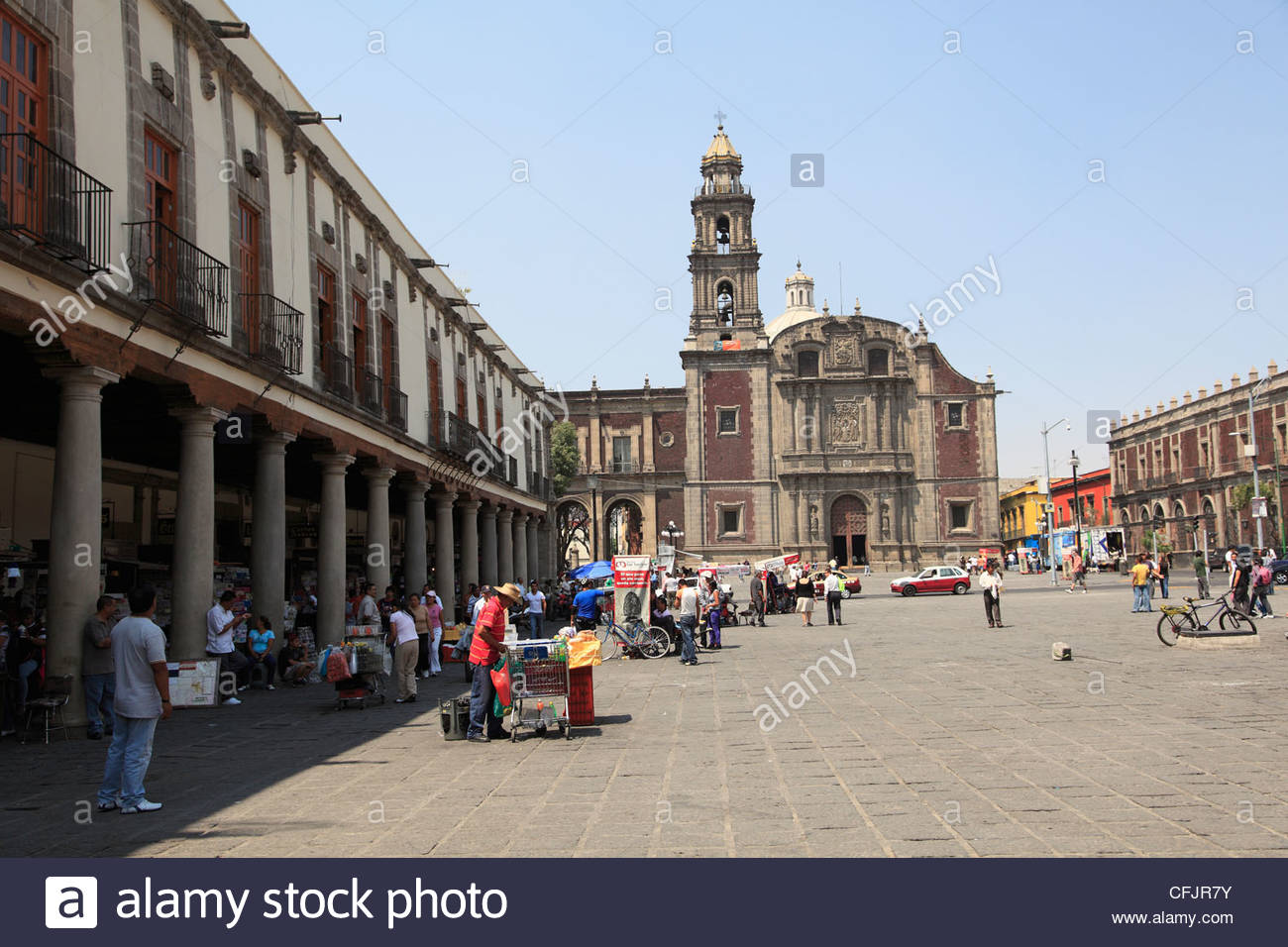 Casa de Cortés Mexico City, Plaza De Santo Domingo Mexico City Stock Photos & Plaza De Santo ...