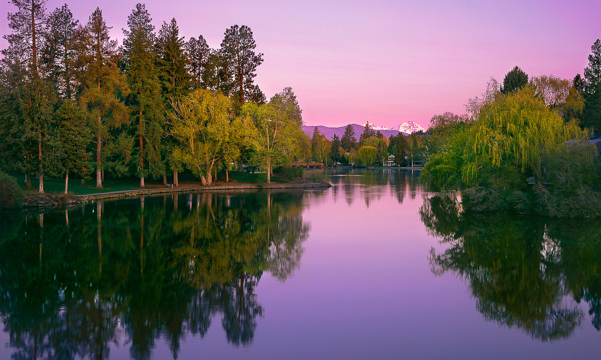 Cascade Lakes Scenic Byway Central Oregon, Mirror Pond fine art print, Bend, Oregon - Mike Putnam Photography