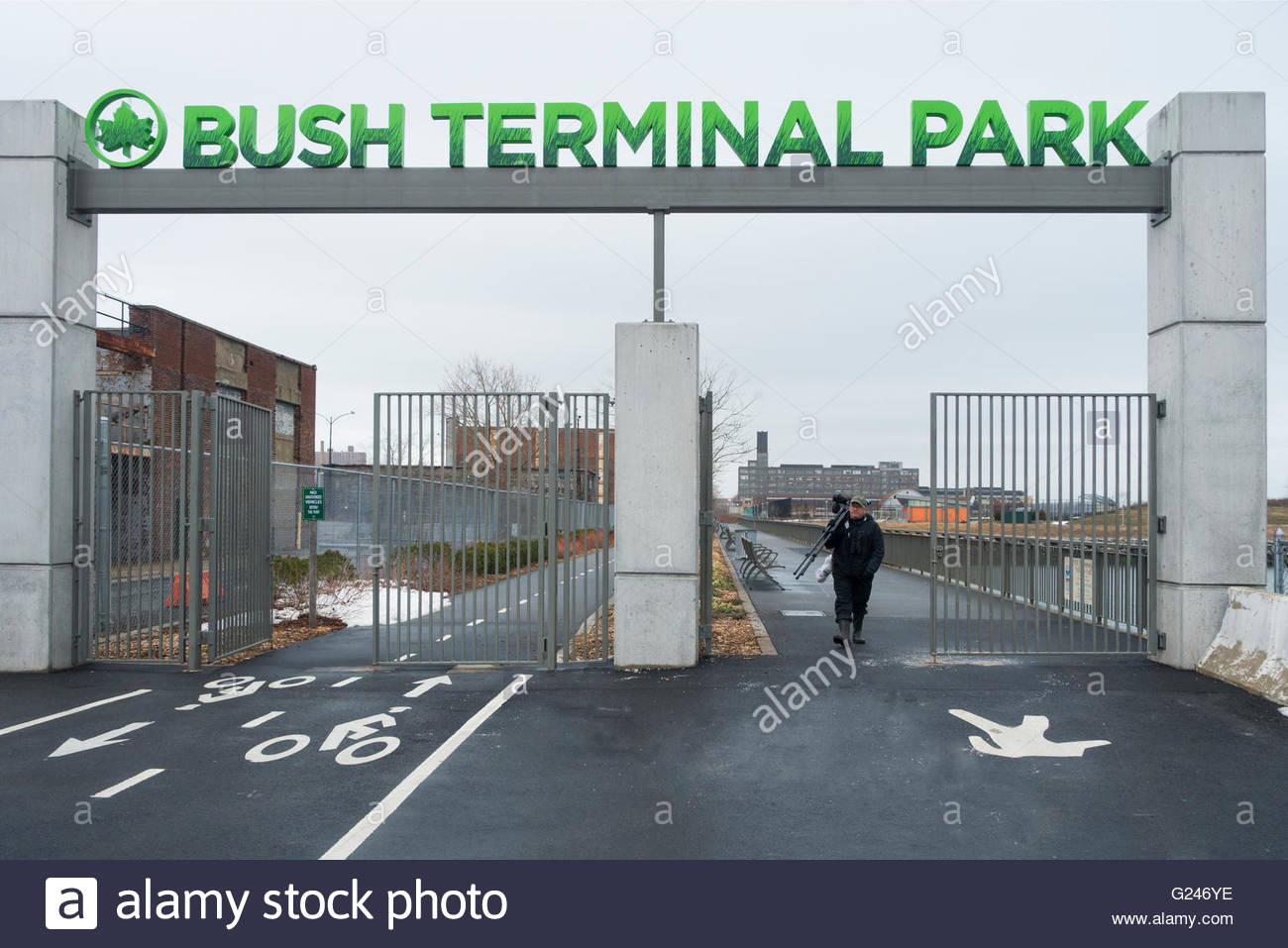 Casey Kaplan New York City, bush terminal park in sunset park Brooklyn Stock Photo, Royalty ...