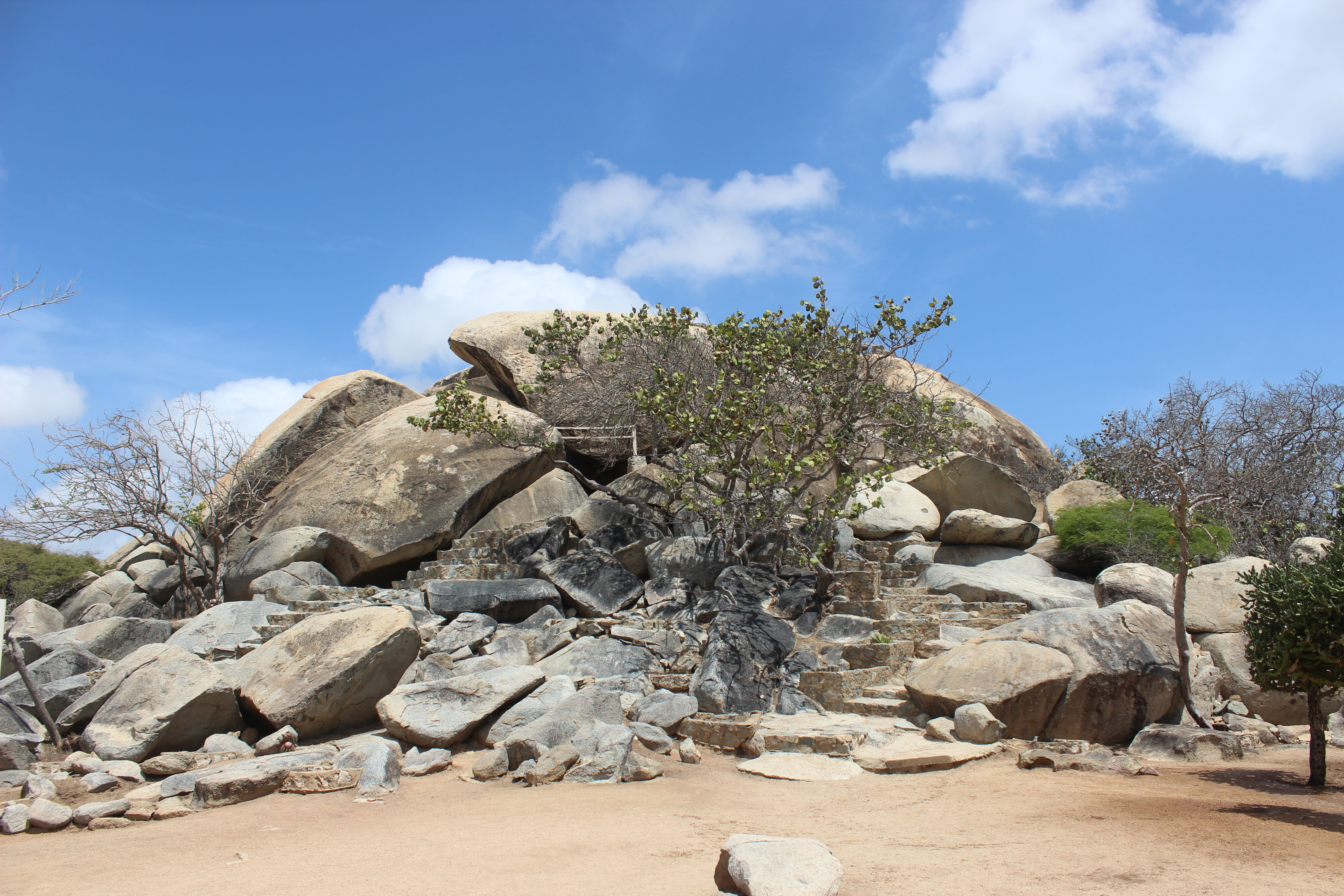 Casibari Boulders East Coast, You can climb up the Casibari Rock Formations - The views from up ...