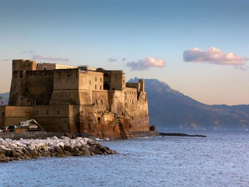 Castel dell'Ovo Naples, Guided Tour of Naples, from the Gambrinus Grand Café to Castel ...
