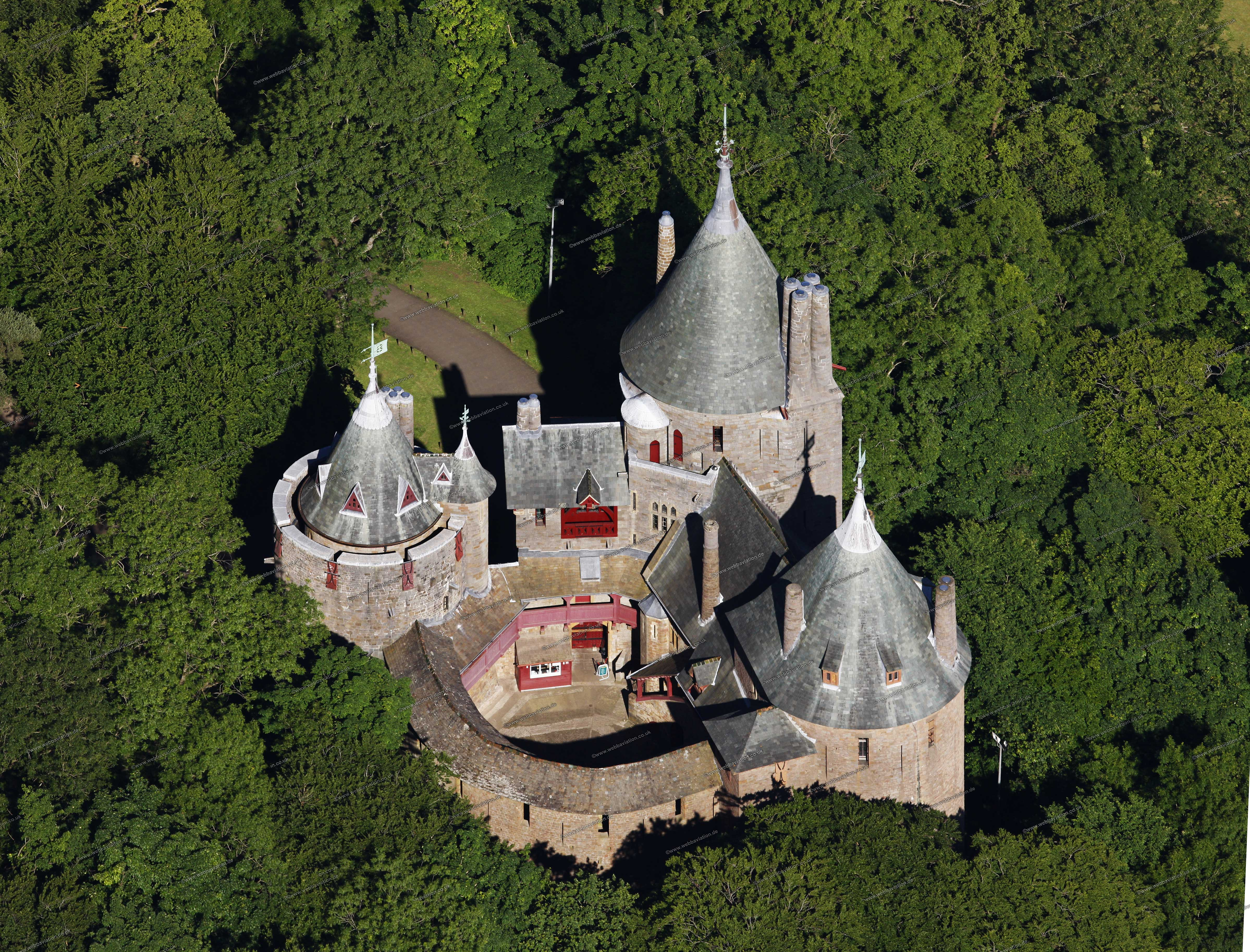 Castell Coch Cardiff, The Red Castle (Castell Coch) in Cardiff (Wales), UK   CASTLES ...