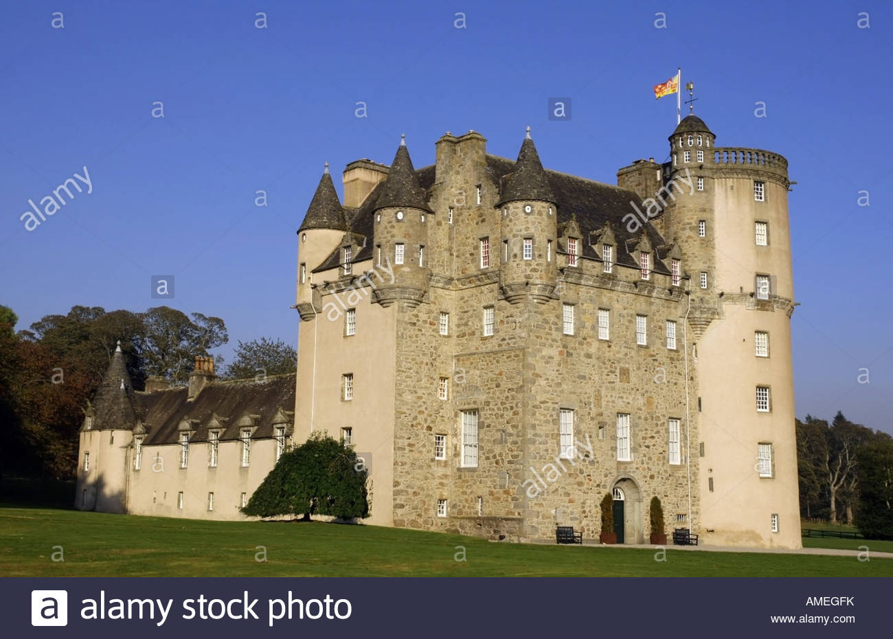 Castle Fraser Aberdeen and the Northeast, Castle Fraser near Inverurie, Scotland, Uk Stock Photo, Royalty ...