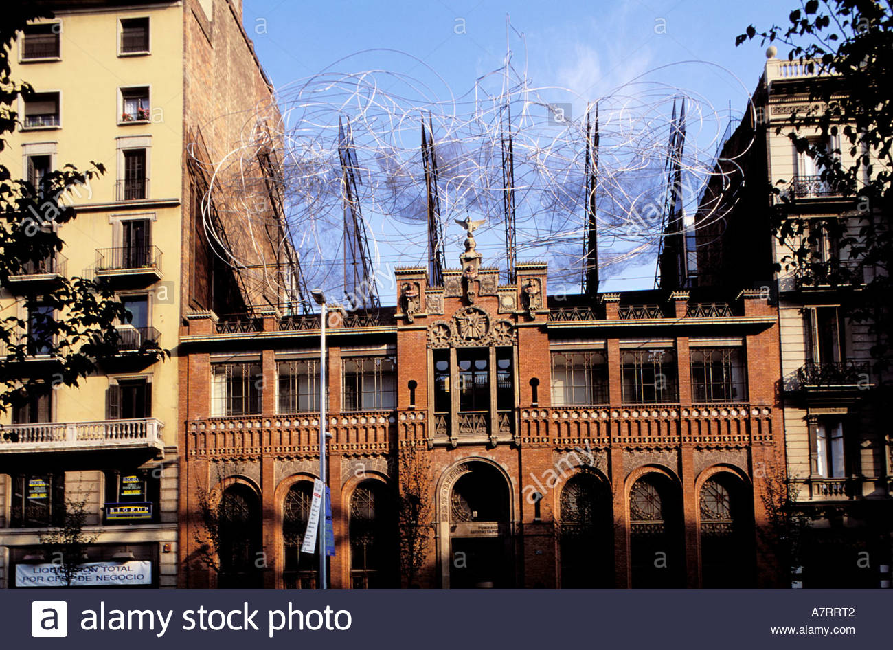 Catedral de la Seu Barcelona, Spain, Catalonia, Barcelona, Tapies Foundation, architect Lluis ...