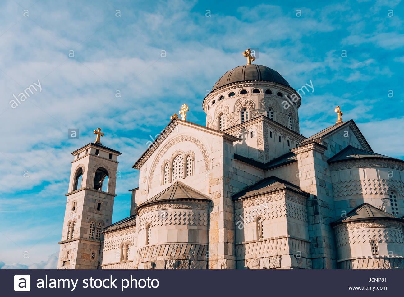 Cathedral of Christ's Resurrection Podgorica, Church Cathedral of the Resurrection of Christ in Podgorica Stock ...