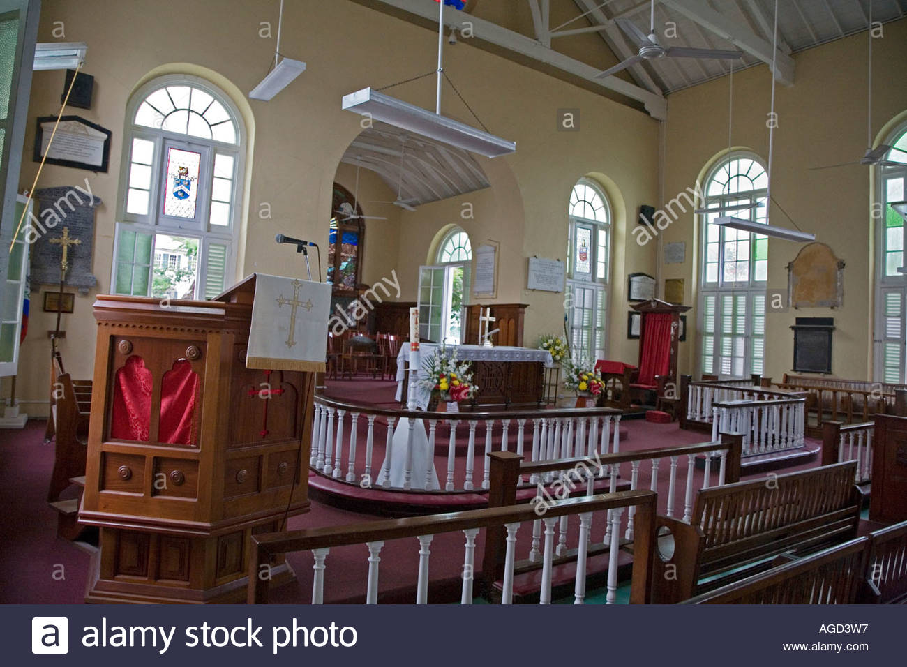 Cathedral of St. John the Baptist Belize City, St Johns Anglican Cathedral in Belize City Stock Photo, Royalty ...