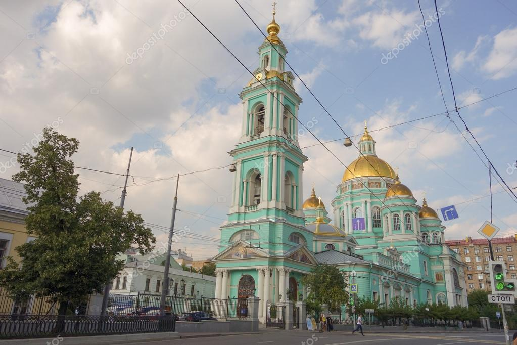 Cathedral of the Epiphany Moscow, Epiphany Cathedral at Yelokhovo in Moscow – Stock Editorial Photo ...