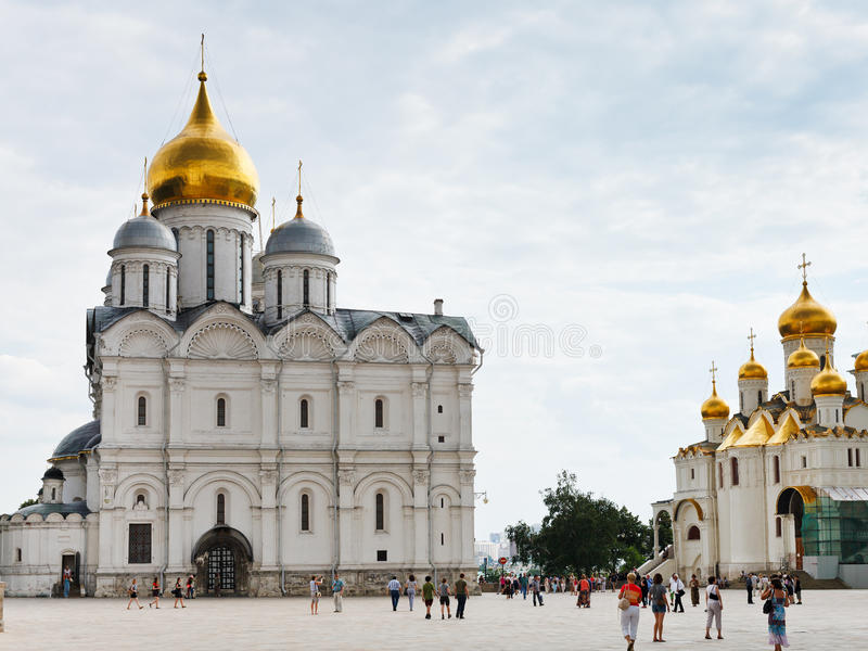 Cathedral Square Moscow, Cathedral Square Of Moscow Kremlin Editorial Stock Image - Image ...