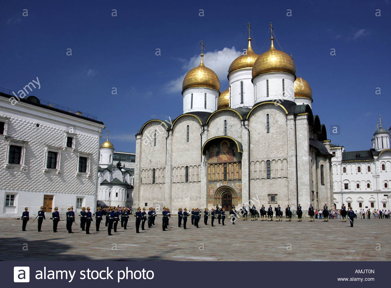 Cathedral Square Moscow, Change of guard at the Cathedral Square, Moscow, Russia Stock ...