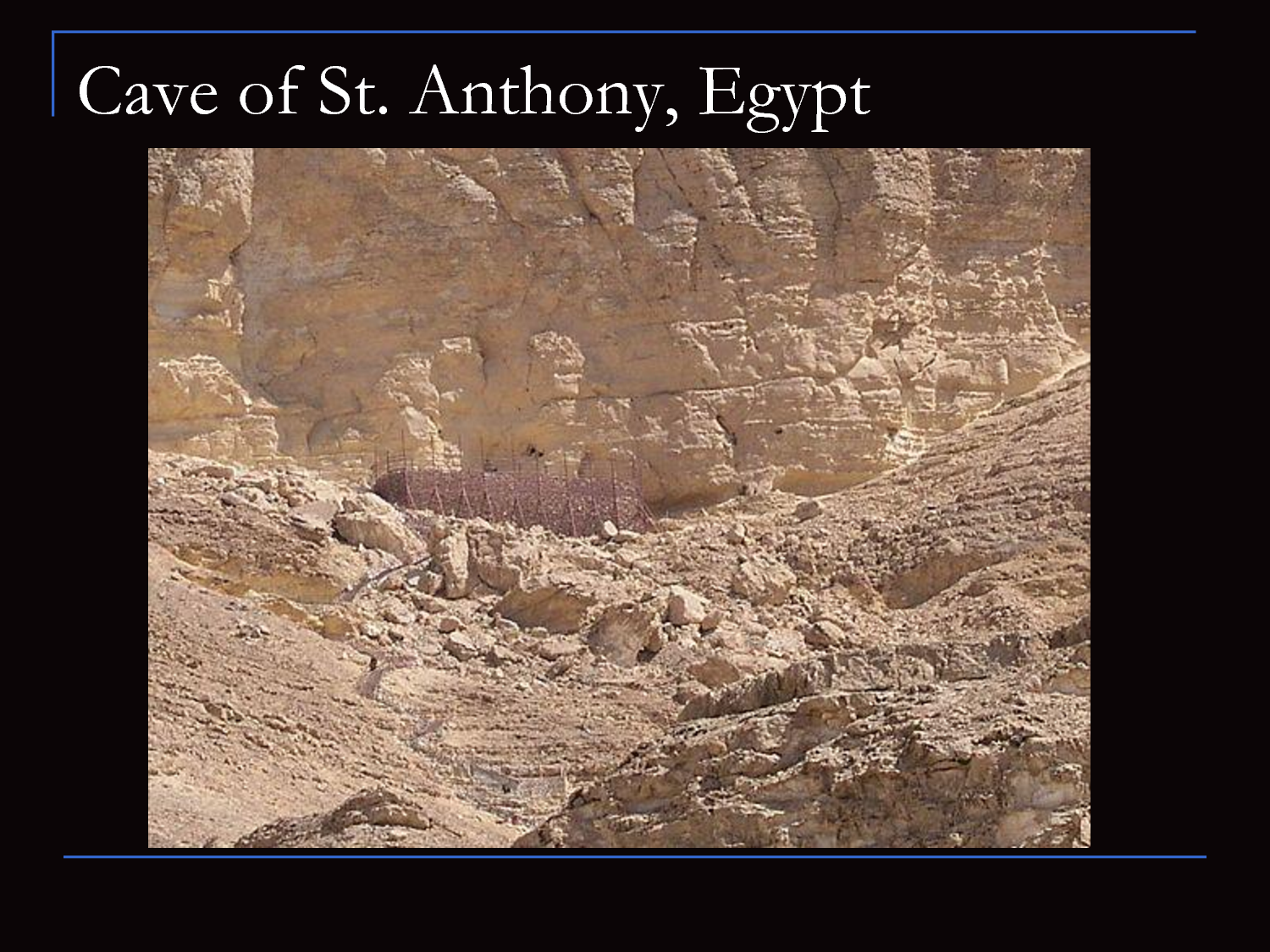 Cave of St Anthony Eastern Desert, Cave of St. Anthony of Egypt | Catholic Places to Visit ...
