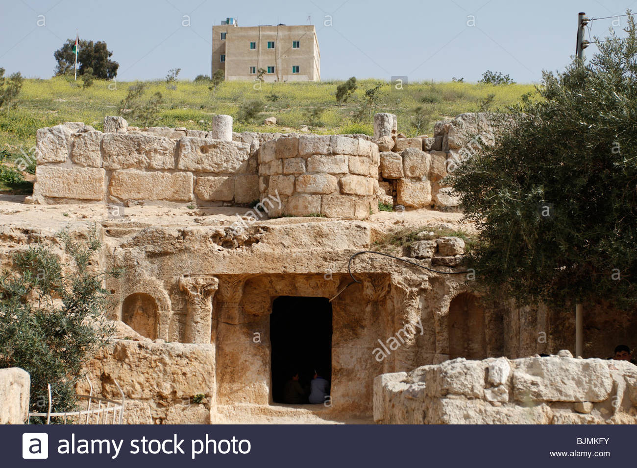 Cave of the Seven Sleepers Amman, Cave of the Seven Sleepers near Amman in Jordan Stock Photo ...