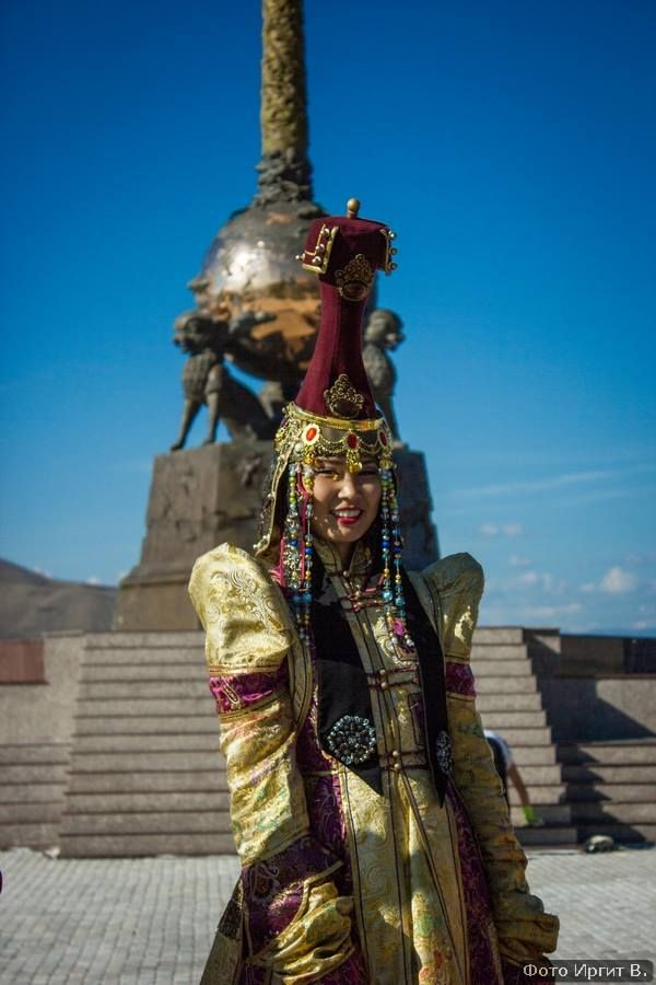 Centre for Tuvan Culture Kyzyl, A Tuvan girl in traditional dress by The Center of Asia Monument ...