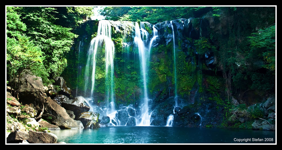 Jeongbang Waterfall Jeju Island, Volcanic Jeju, Island of the Gods [33 PICS]
