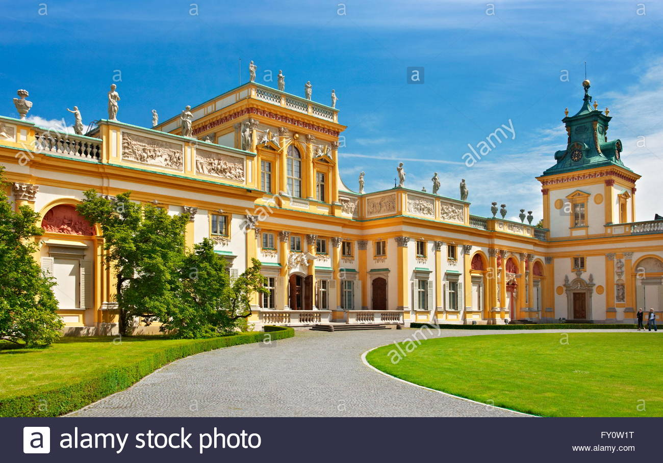Church of St Mary Magdalene Wrocław, Wilanow Royal Palace in Warsaw, Poland Stock Photo, Royalty Free ...