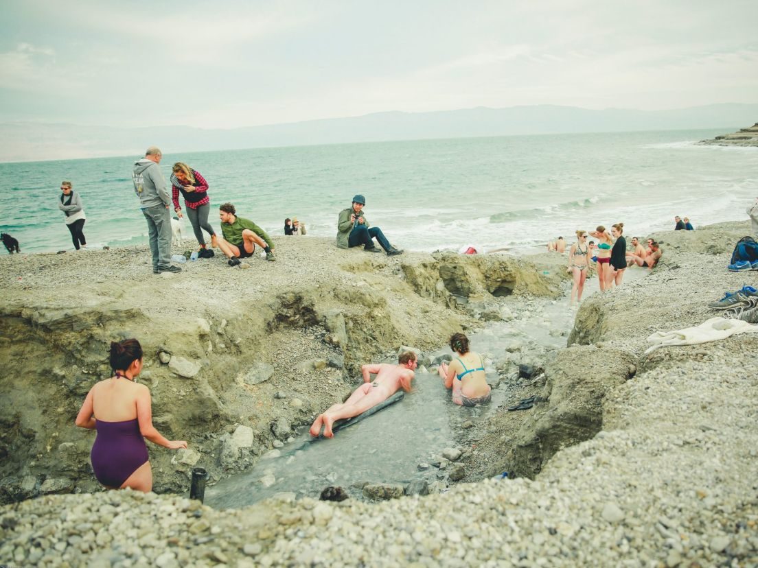 Mineral Beach Around Jerusalem and the Dead Sea, I joined a Dead Sea hippie colony - Israeli Culture - Haaretz