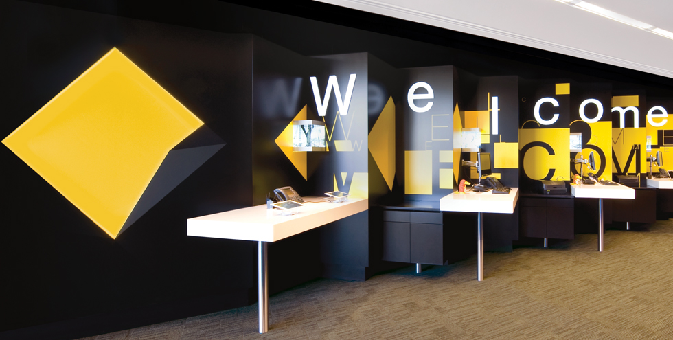 Commonwealth Bank branch Sydney, Commonwealth Bank Environmental Graphics   BrandCulture Communications
