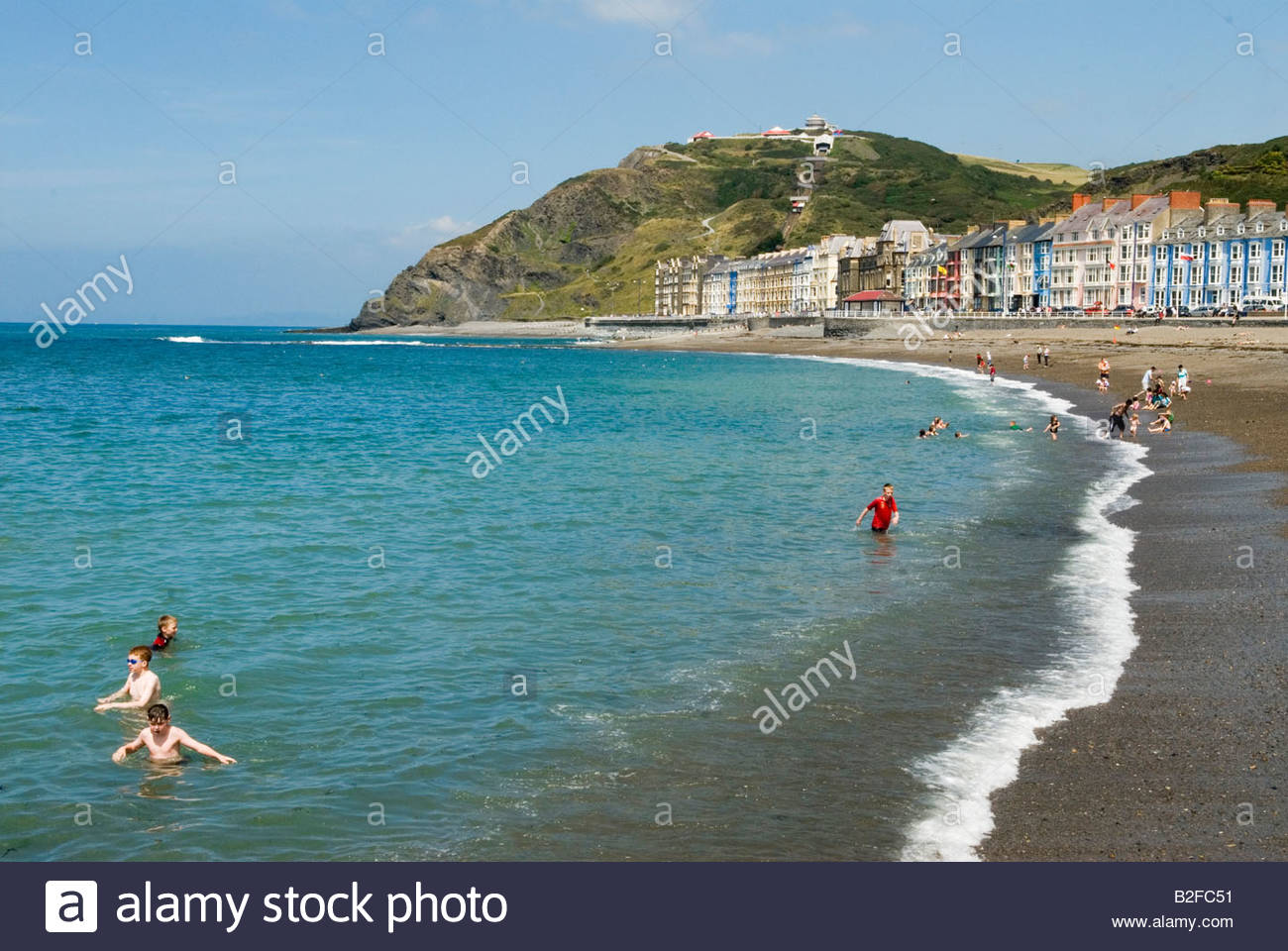 Constitution Hill Mid-Wales, Aberystwyth Wales Ceredigion west coast mid Wales UK Seaside ...
