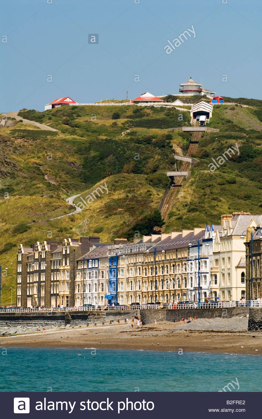 Constitution Hill Mid-Wales, Aberystwyth Ceredigion west coast mid Wales UK Cliff electric ...