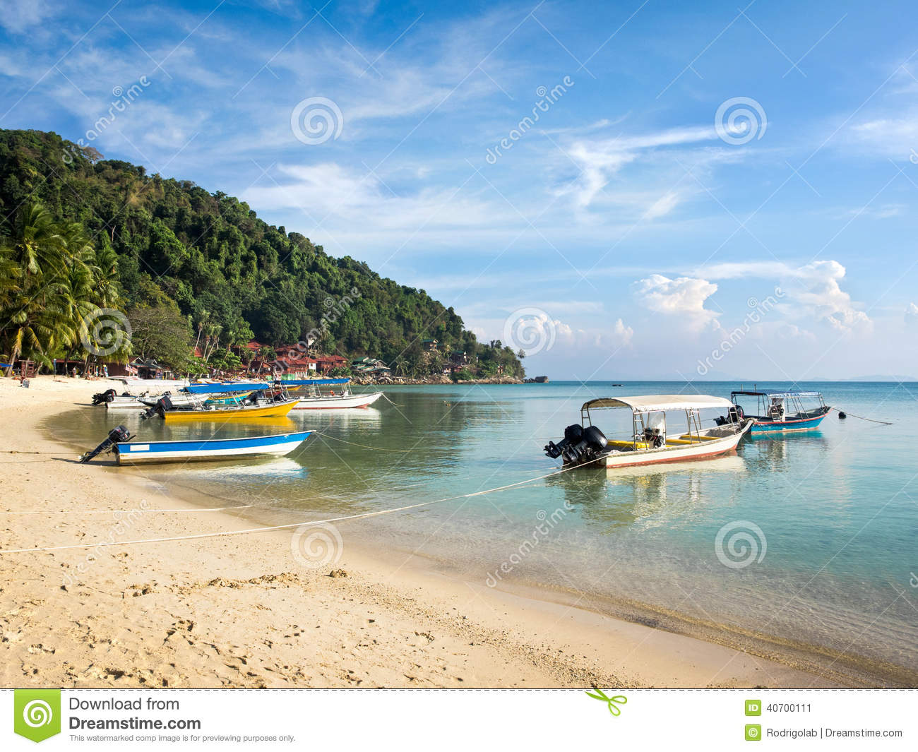 Coral Bay Pulau Perhentian, Boats In Coral Bay Beach, Pulau Perhentian, Malaysia Stock Image ...