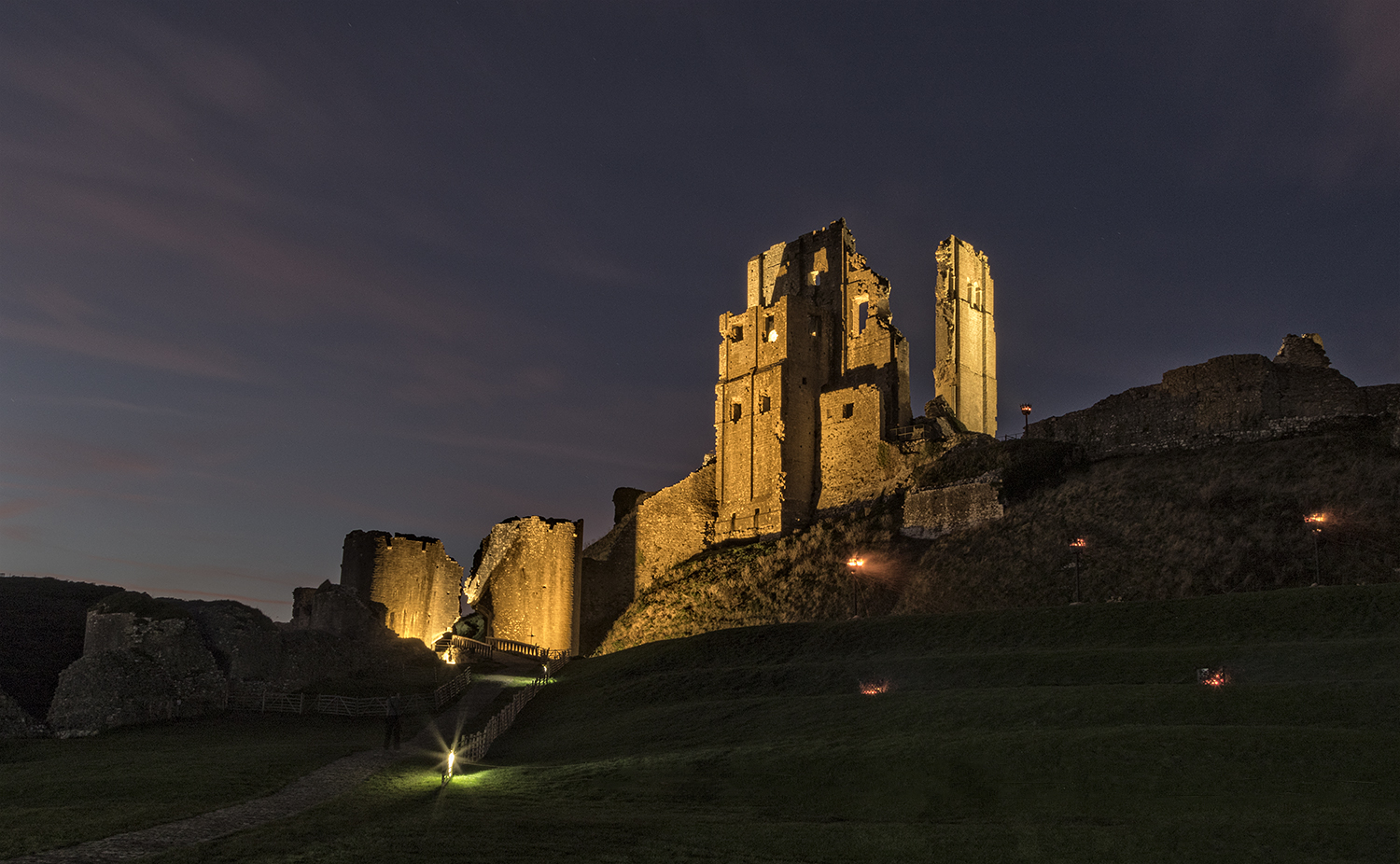 Corfe Castle Corfe Castle, Corfe Castle at night – MarilynJane Photography
