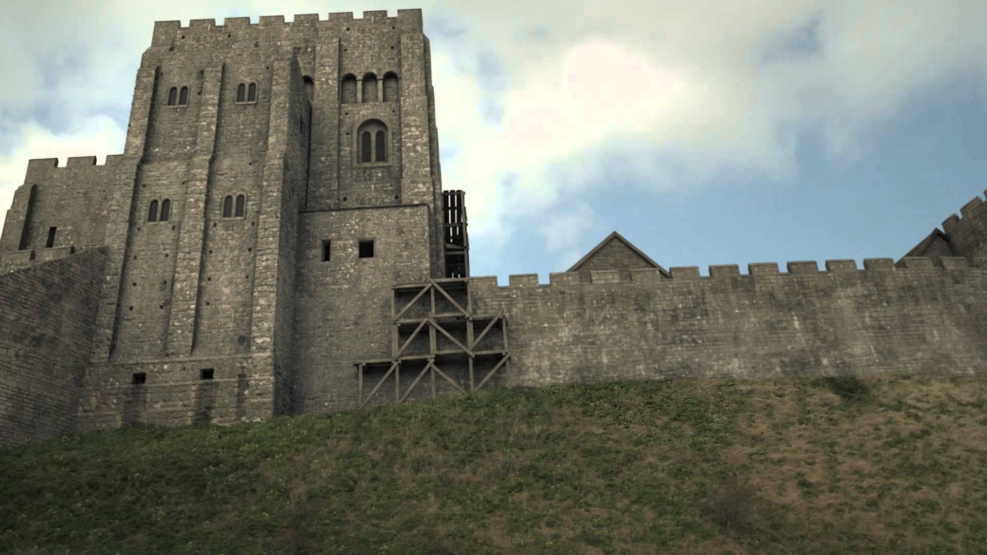 Corfe Castle Corfe Castle, Corfe Castle - 3D Historical Reconstruction - YouTube